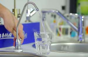 фильтр для очистки воды в работе