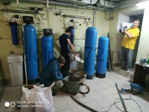 Замена фильтрующий загрузки на системе фильтрации общей подачи воды СДЮШ 3 г. Тюмени