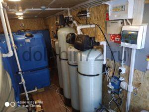 Система очистки воды с аэрaционной колонной