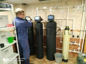 Замена фильтрующих загрузок на ранее установленной компанией «Дельфин» системе водоочистки
