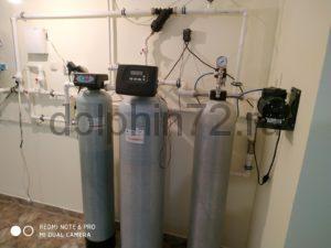 Замена фильтрующих загрузок на ранее установленной нами системе очистки воды
