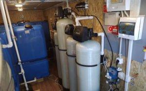 Монтаж мобильных систем очистки воды в вагончике для Севера