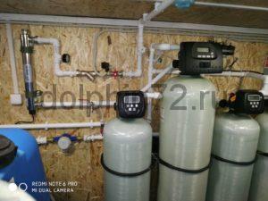 Монтаж двух мобильных систем очистки воды в вагончике