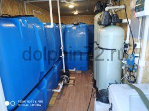 Монтаж двух мобильных систем водоочистки