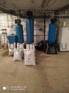 Замена фильтрующих загрузок на ранее установленной нами хим. реагентной системе фильтрации воды на нужды офиса и столовой в одном из дорожных предприятий Тюменской области