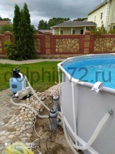 Система водоочистки для каркасного бассейна