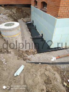 Утепление, гидроизоляция фундамента коттеджа в Тюмени с дренажом и отведением воды