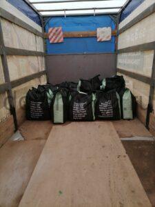 Поставка 1200 л активированного кокосового угля