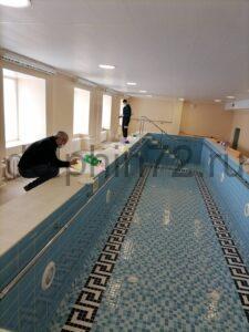 Расконсервация бассейна с минеральной водой в МСЧ Нефтяник (г. Тюмень) после полуторогодовалых карантинных мер связи с Ковид-19