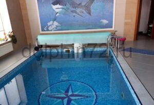 Сервисное обслуживание бассейна и системы очистки воды в частном коттедже г. Тюмень