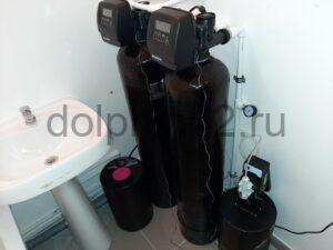 Монтаж системы водоочистки в квартире в ванной комнате п. Салым