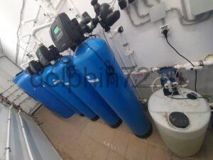 Монтаж системы очистки воды, гостиница п. Салым ХМАО