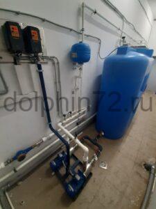 Монтаж системы очистки воды, гостиница поселка Салым ХМАО