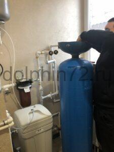 Замена фильтрующей загрузки в системе водоочистки в частном доме города Тюмени