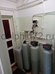 Монтаж системы водоочистки для производства питьевой воды в столовой одной из школ г. Тюмени