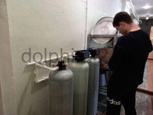 Монтаж системы водоочистки для производства питьевой воды в столовой одной из школ Тюмени