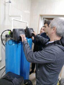 Замена загрузки на водоочистке, установленной 8 лет назад в котедже с бассейном в Московском дворике, Тюмень