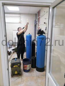Замена загрузки на водоочистке, установленной 8 лет назад в котедже в Московском дворике