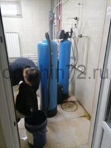 Замена загрузки на системе водоочистке, установленной 8 лет назад в котедже с бассейном в Московском дворике, г. Тюмень