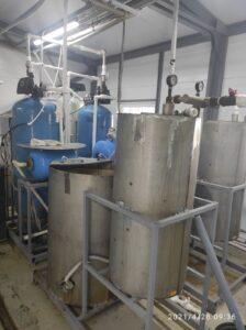 Первоначальная система водоочистки с каскадным аэрированием воды