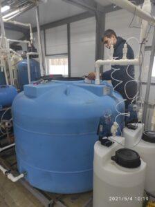 Контактный фильтр аэрации и деманганации воды