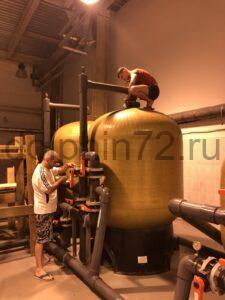 Замена фильтрующей загрузки в системе водоочистки на предприятий пищевой промышленности