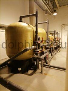 Замена фильтрующей загрузки в системе очистки воды на предприятий пищевой промышленности Тюмени